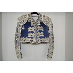 Navy blue and silver second hand bullfighter costume