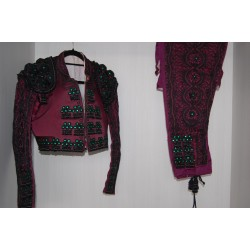 Aubergine and black second hand bullfighter costume