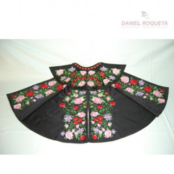 Parade cape with floral design