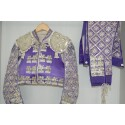 Mauve and silver second hand bullfighter costume