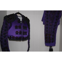 Purple and black second hand bullfighter costume